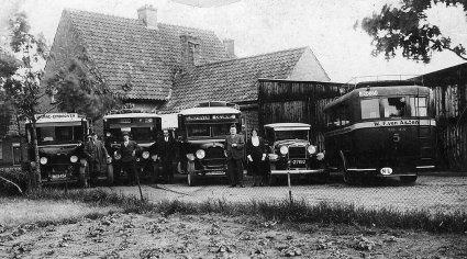 Autobussen, Budel 1930.