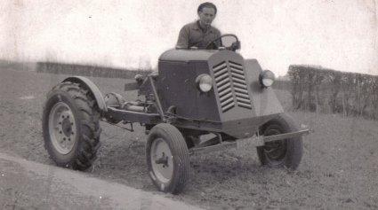 MCE-tractor, c. 1950 (collectie Heemkundekring Erthepe)
