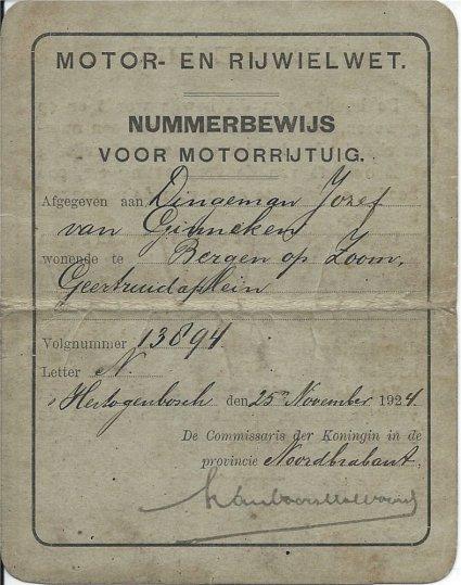 Nummerbeijs 1924.