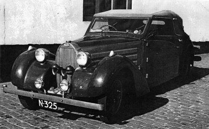 De Bugatti van Johannes van den Hurk (Collectie D.A. Ploeg)