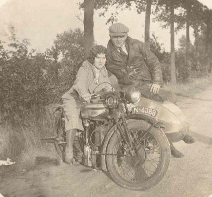 Norton 500 cc  CS1, Sint-Oedenrode, jaren '30.