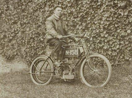 Simplex motorfiets, 1905.