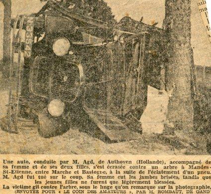 N-33542 verongelukt in 1936 in België (collectie M. van Agt)