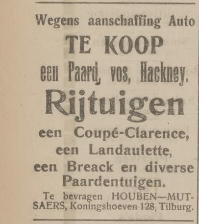 Bron: Het Huisgezin, 12-03-1920
