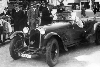 Alfa Romeo, 1935 (Bron: archief fam. Schade)