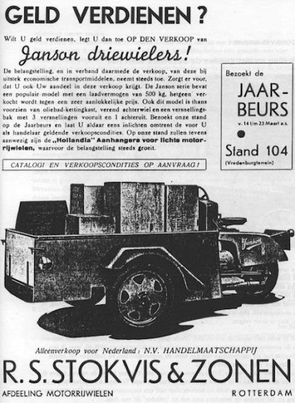 N-39096 Reclame van de firma Janson
