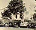 Wagenpark van de firma Schraven-Eijsbouts in de Piushaven, 1947 (Collectie M. Leyten-Schraven)