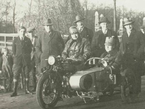 Triumph motor met Swallow zijspan, c. 1935.