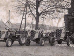 MCE-tractoren, c. 1950 (collectie Heemkundekring Erthepe)