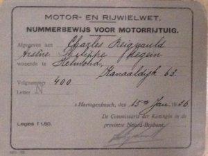 Nummerbewijs van Charles Legein