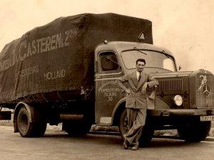 Mercedes vrachtwagen, c. 1950 (collectie G. Ligtvoet)