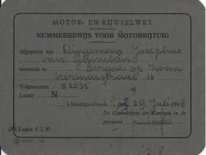 Nummerbewijs 1948.