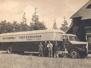 Crossley truck met oplegger, 1950.