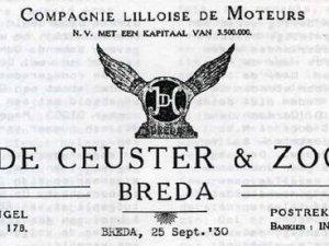 Briefhoofd van de firma De Ceuster (bron: Conam Bulletin)