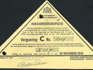 Rijvergunning, 1940