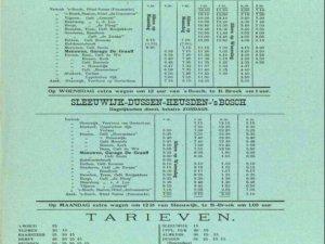 Dienstregeling van de ALAD, 1925
