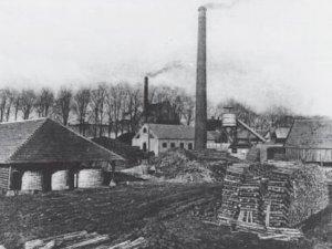 De fabriek rond 1915  (Uit: Jaarboek De Oranjeboom 50 (1997)