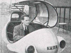 N-212 Bouwer Chr. van Wyck in de autoscooter (coll. Heemkundekring Onsenoort)