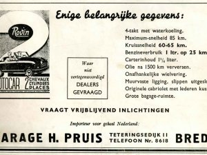 Advertentie, 1949