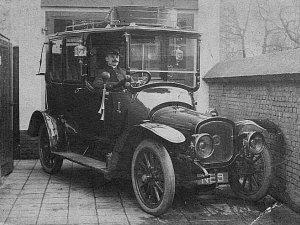 De eerste taxi