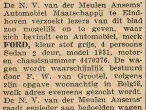 Bron: De Maasbode, 7-6-1931