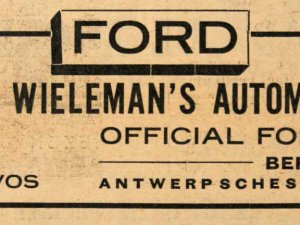 Advertentie in De Zoom van 8 november 1930
