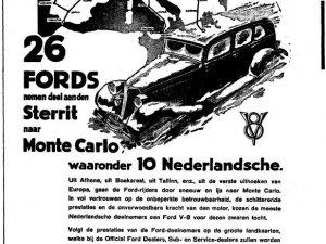 Reclame van Ford in Het Vaderland van 14 januari 1934