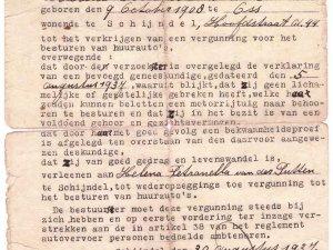 Vergunning voor Helena v.d. Putten