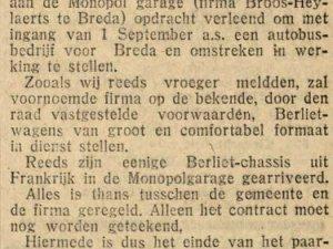 Bron: Prov. Noordbr. en 's H-bossche Courant, 15 juli 1925