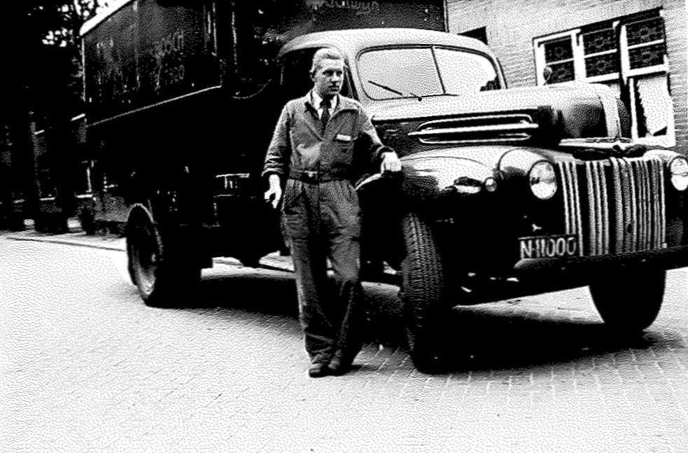 Ford vrachtwagen, c. 1950.