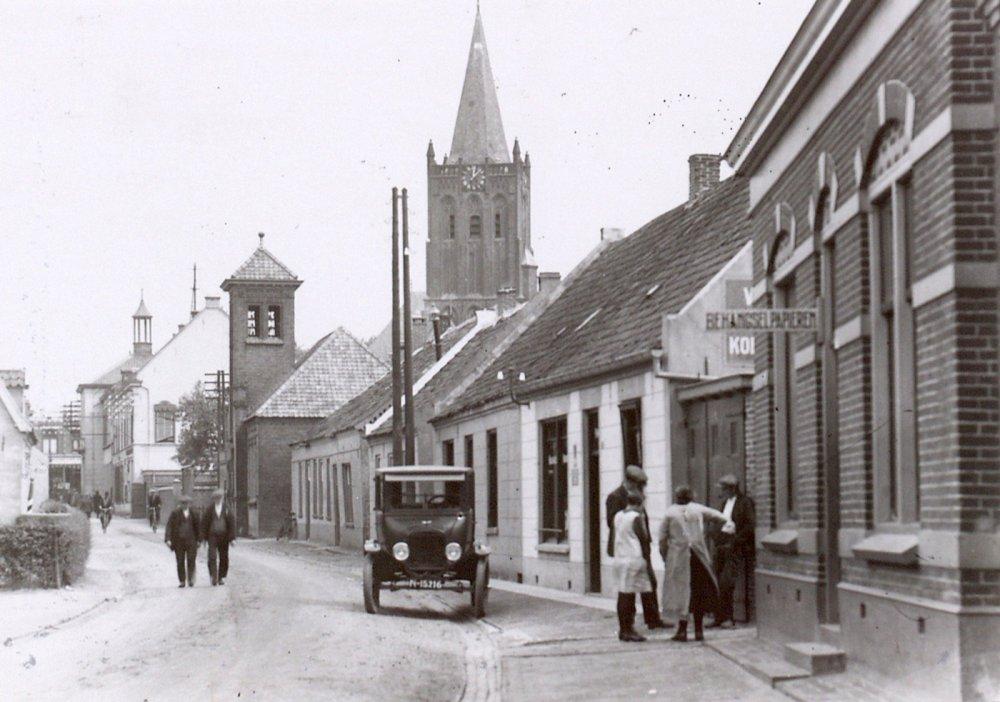 De Kreupelstraat in Boxmeer, 1927
