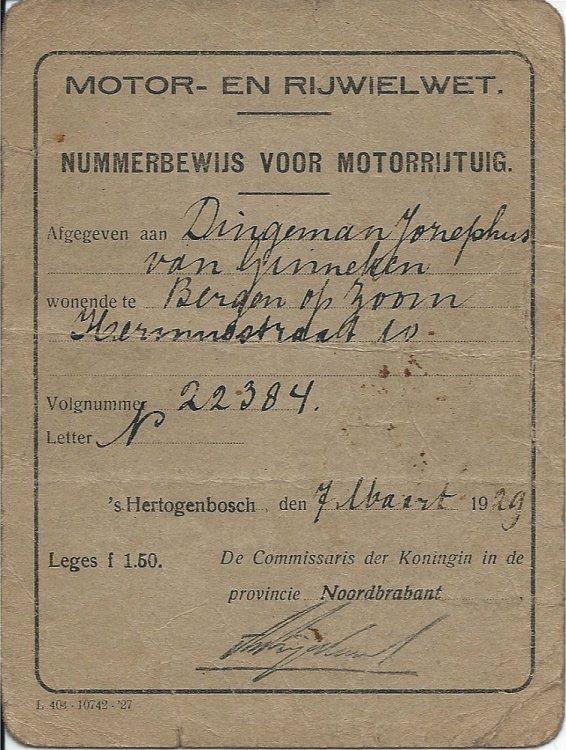 Nummerbewijs