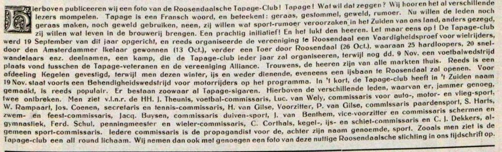 Bron: Revue der Sporten, 1919