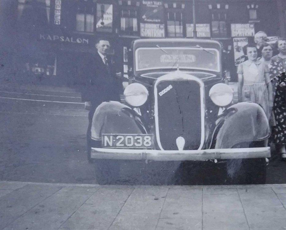 Dodge van C.H. van de Wiel, Utrecht 27 juli 1937 (collectie: H. Heimeriks)