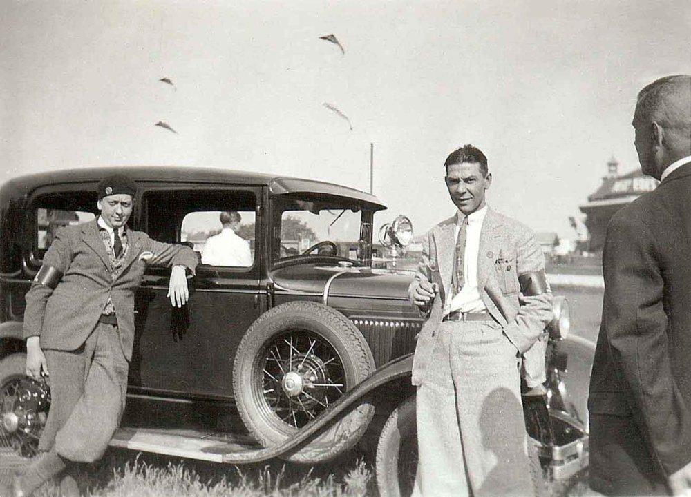 N-4705 Ford tijdens de 10.000 km. rit, 1931 (collectie I. Ramselaar-van der Meulen)