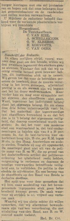 Bron: Bredasche Courant, 5 maart 1928